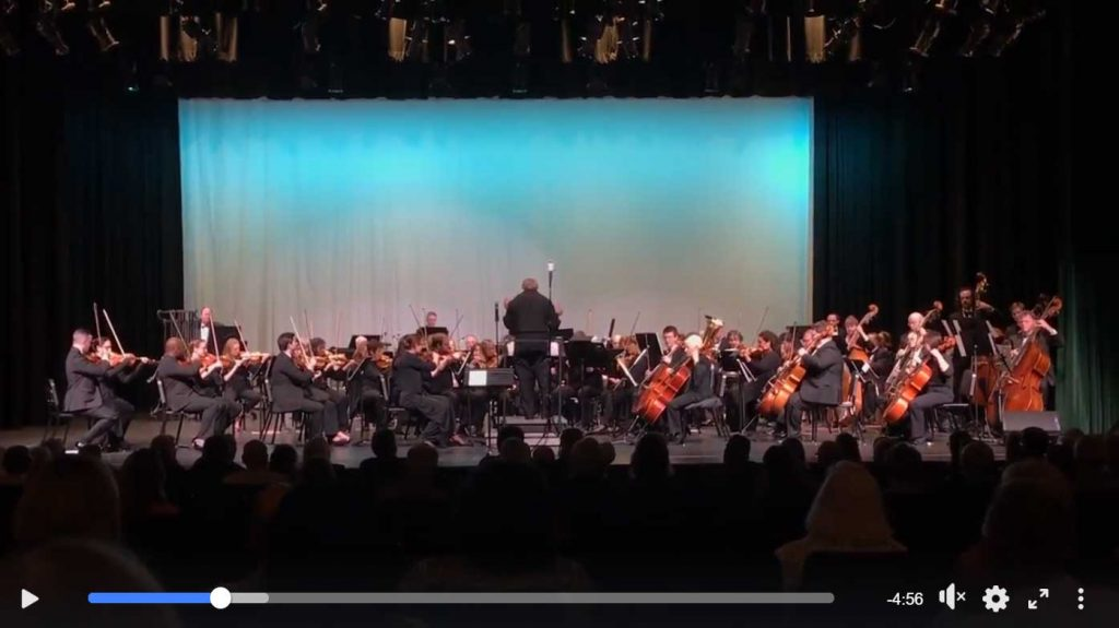 March 2020, Panama City POPs Orchestra performs Web Dance composed by David Goldflies
